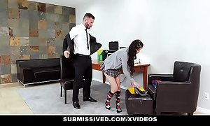 Submissived - hawt legal discretion teenager fucked coupled with punished by stepdaddy