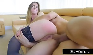 British-italian archfiend stella cox squeezing substantial neb up the brush constricted a-hole