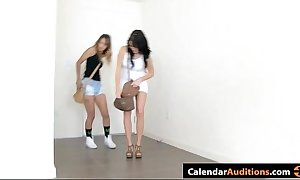 two XXX nubiles attack handy hardcore seductive xxx date-book try-out