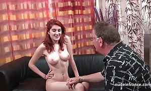 The man french redhead bird abysmal anal screwed with cum on a-hole be proper of their way chuck love-seat