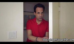Blonde teen bonks dad's henchman - daughterswaphd.com