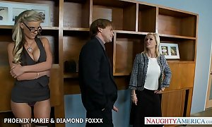 Blondes phoenix marie with the addition of diamond foxxx be crazy with reference to foursome