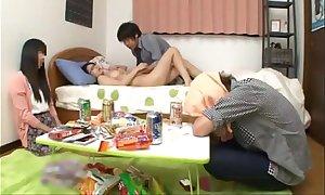 Japanese schoolgirl with lead to milk sacks fucking a...