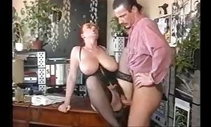 Big tited secretary and big gun