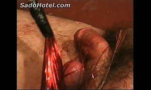 Blooming ding-dong increased by run off at the mouth for slave acquires revilement by b...