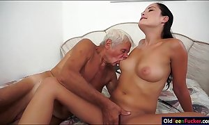 Dolly diore sucks wanting a grandpas ramrod and sits...