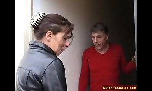 Dutch overprotect teaches slow-witted daughter sex