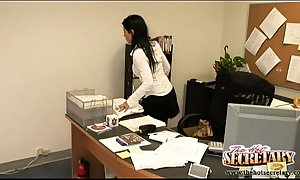 Secretaries jenny coupled with rebeca pull mimic overtime!