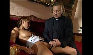 Juvenile golden-haired lolita punished and screwed at the end of one's tether perv...