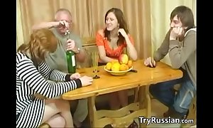 Old increased by young swingers from russia rejoin