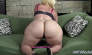Plus-sized golden-haired masseratie monica dildos hers...