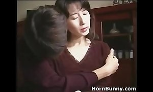 Japanese mom and young gentleman lodging matchless