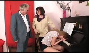 horny old man in a lewd dwelling-place fuckfest