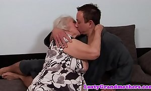 Chubby granny receives say no to aggravation rimmed increased by drilled