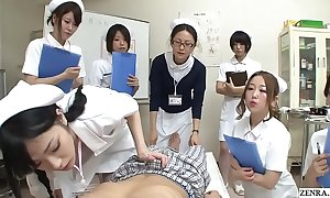 JAV nurses CFNM handjob oral-job sit-in Subtitled