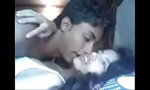 Indian Mumbai beauty university teen going to bed attached near her cousin
