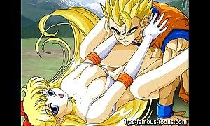 Upper case anime toons orgy