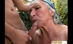 Granny gets reamed away from young rafter not on