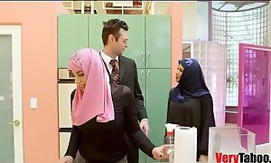 Non-specific Less HIJAB rides the brush stepdad- DUBAI N