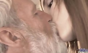 Old Juvenile - Big Cock Grandpa Drilled wide of Teen that babe licks thick sky pilot dick