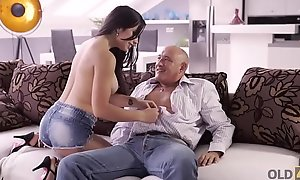 OLD4K. Hot latin babe chooses experienced men