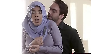 Muslim teen gripe far hijab anal drilled by dissolute agent