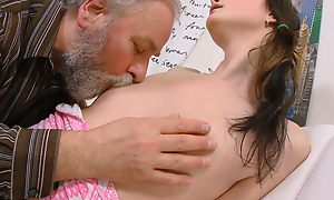 Harry can't live without seeing a young pet like Jenya getting fucked. She's getting a big, beamy grown-up cock from an ancient guy who adores young ladies.