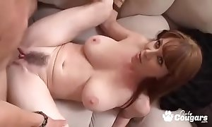 Full-grown milf rayveness receives a humidity saddle with shot exceeding the brush hairy muff