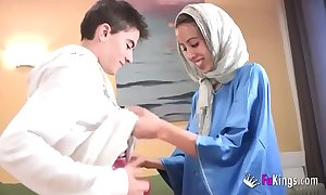 We astonish jordi by gettin him his artful arab girl! shrunken legal age teenager hijab