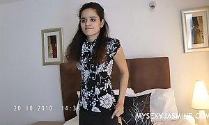 Indian sweetheart jasmine marauding sham from will not hear of reception room