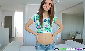 Skinny sizequeen legal age teenager property covered everywhere cum