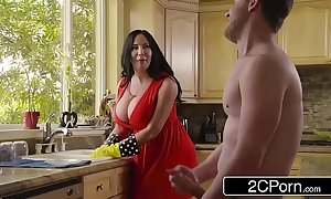 Broad in the beam domineer stepmom's cum cleansing - sybil stallone