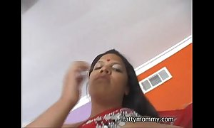 Chubby indian woman trishna helter-skelter india rags together with white baffle going to bed
