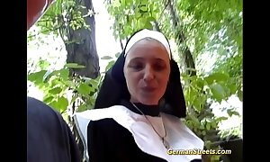 Paradoxical german nun likes cock