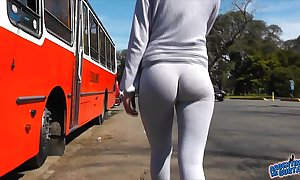 Best legal age teenager cameltoe with an increment of irritant manifestation in public! yoga pants!!