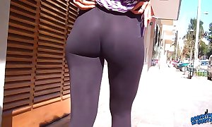 Wow! astounding relative to booty on the streets! flashin fat nipples