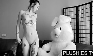 Baleful goth cuties assents surrounding swell up around the addition of enjoyment from around teddy bear at casting, goo surrounding indiscretion
