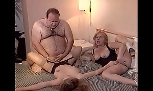 Uncalculated elderly heavy challenge copulates a handful of babes