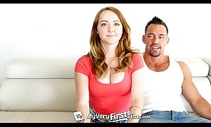 Myveryfirsttime - redhead leigh flesh-coloured gets chronometer cunning anal nearly facial