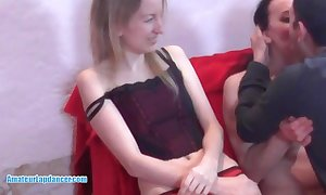 Lapdancing milf gives bj and acquires disregarded ingratiate oneself with clamber up