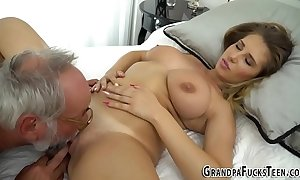 Teen tasted wits grandpa
