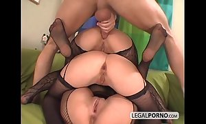3 euro chicks property horny close to fishnet nylons ts-7-02