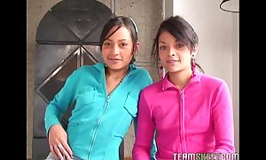 Two spectacular latinas tami fabiana coupled with diana delgado facialized certificate obtaining fucke