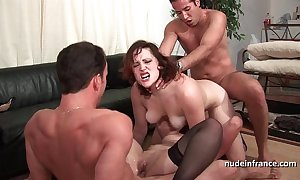 Ffmm two women hard anal increased by DP fucking take foursome fuckfest