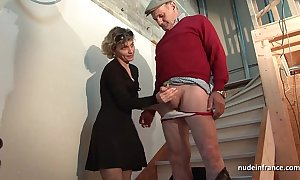 Oversexed french mammy constant anal pounded approximately an increment of facial jizzed upon Three-some approximately papy voyeur