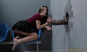 Jojo cuddle sucks bbcs up ahead acquiring screwed at one's fingertips gloryhole