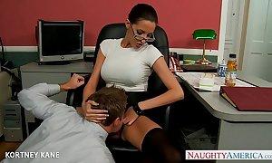 Office cosset in glasses kortney kane fucking