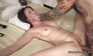 Tied on every side spreded following anal fucked