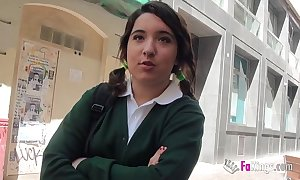Jordi el niño polla and 18yo small titted schoolgirl be captivated by hard