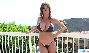 Stepmom alexis fawx uses stepson back fulfill the brush concupiscent needs